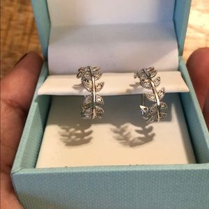 Jewelry - Contessa Di Capri Sterling Silver Hoop Earrings